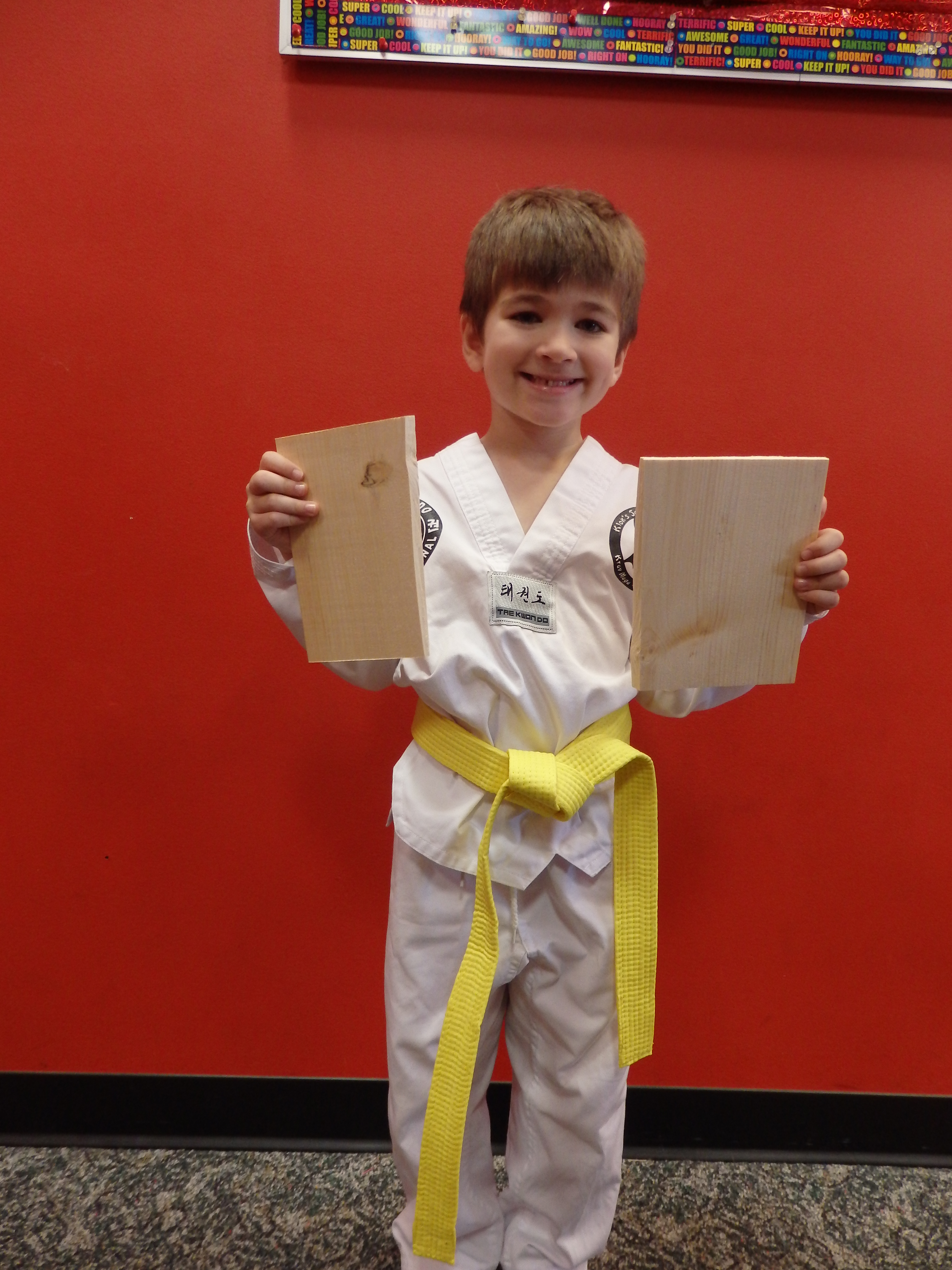 Quest Student Moves Up IN Tae Kwon Do