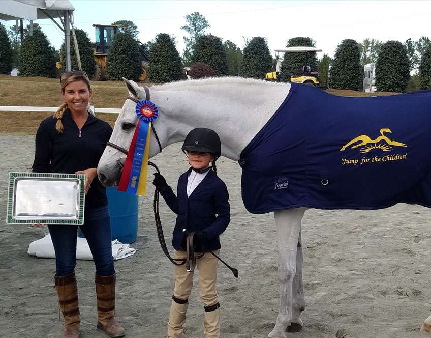 Quest Student Champion in the Duke Children's Hospital Benefit Horse Show